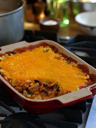 Leftover Turkey Tamale Pie