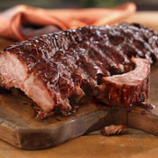 Grilled Pork Ribs with Pomegranate Sauce