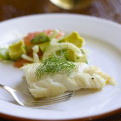 Cod with Grapefruit, Avocado, and Fennel Salad