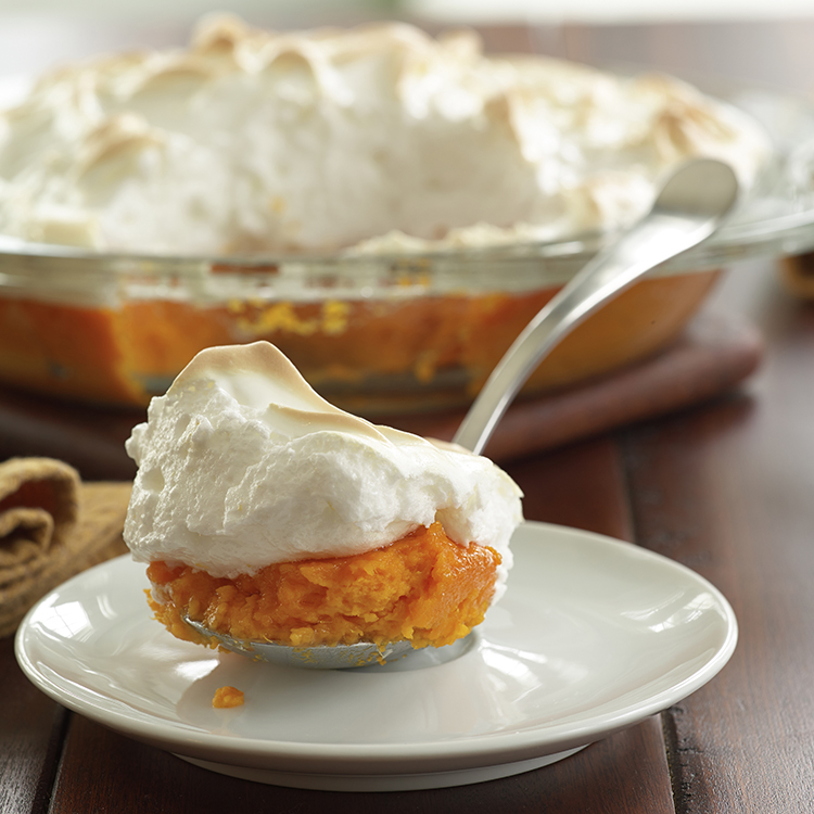 Lemon Sweet Potatoes with Meringue Topping